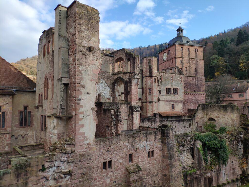 Die Ruine des Heidelberger Schlosses in Heidelberg.