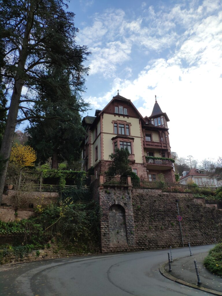 Ein Herrenaus in Heidelberg.