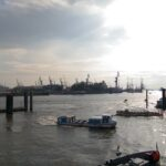 Der Hamburger Hafen.