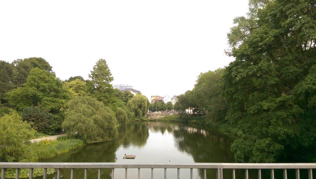 Der Park Planten un Blomen in Hamburg.