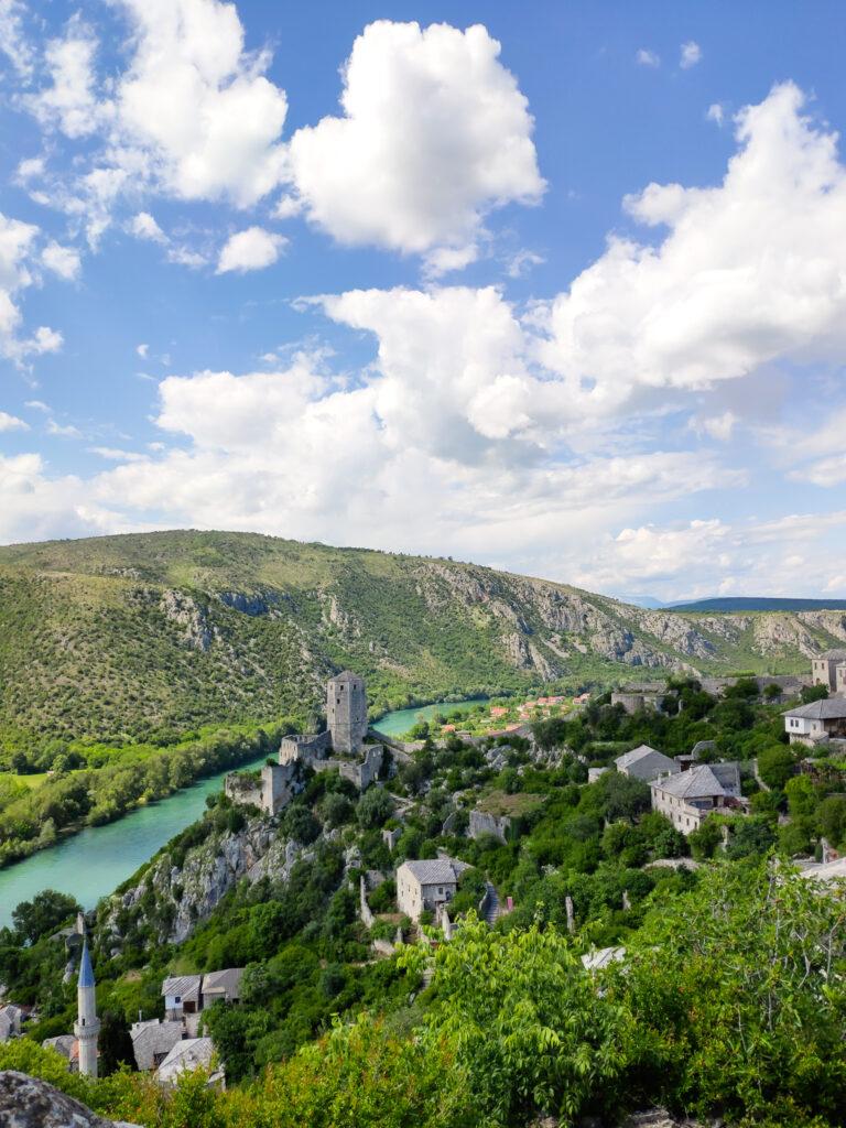 Kleines Dorf Počitelj in Bosnien und Herzegowina.