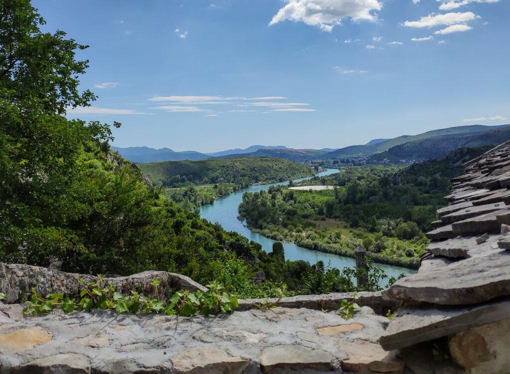 Kleines Dorf Počitelj in Bosnien und Herzegowina