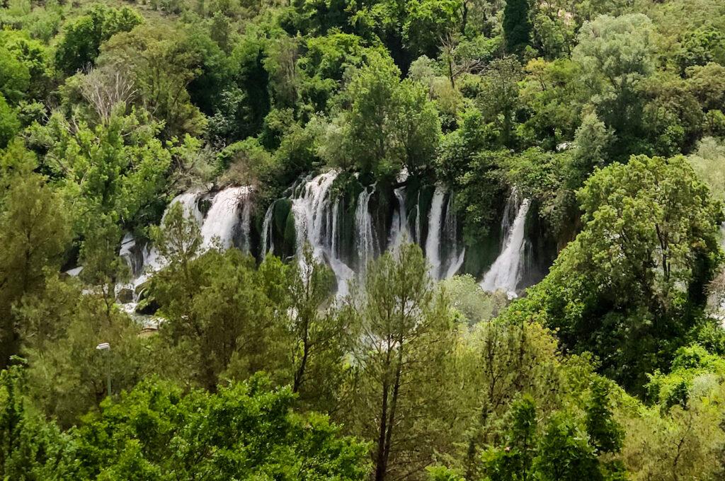 Die Kravica Wasserfälle in Bosnien und Herzegowina