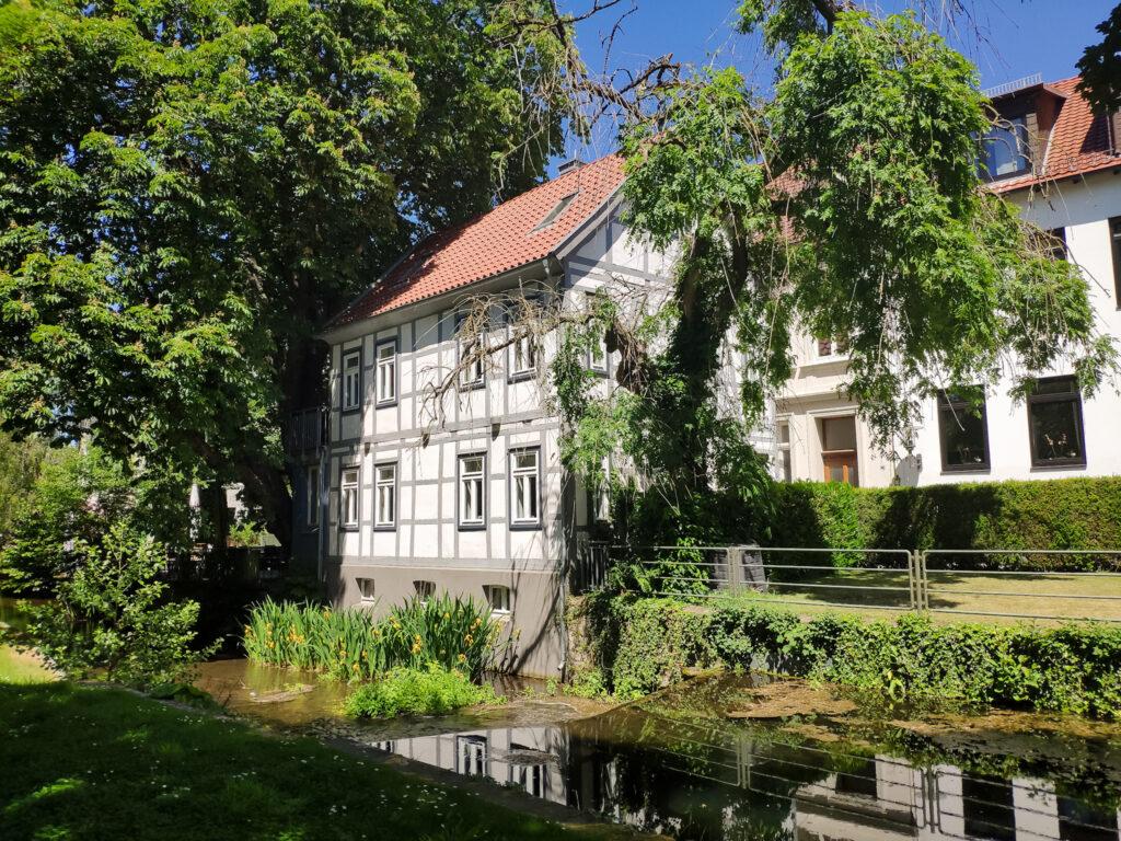 Fachwerkhaus in Detmold, Kreis Lippe.